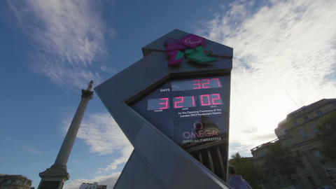 Olympic sign time lapse in London Footage