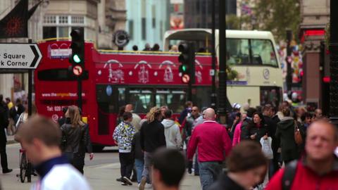 LONDON - OCTOBER 7: Daytime street traffic on October 7, 2011 in London Footage
