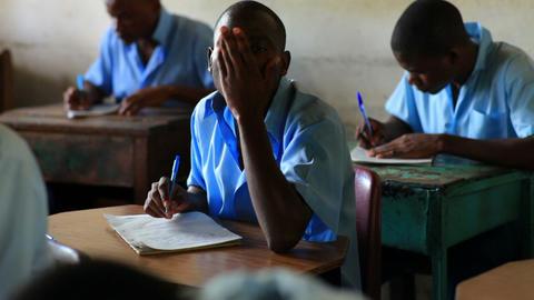 School boy in class in Kenya, Africa Footage