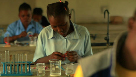 Students doing chemistry in Kenya Footage