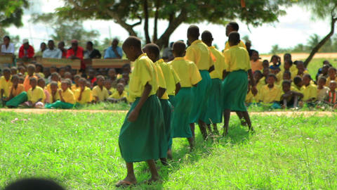 School performance near a village in Kenya Footage