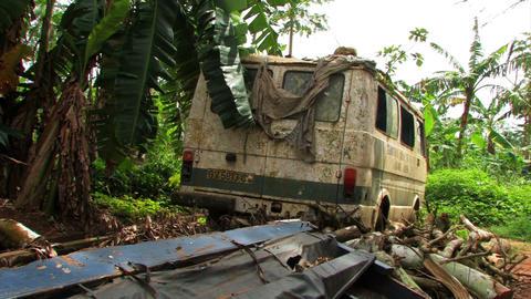 Old, broken, rusty van Footage