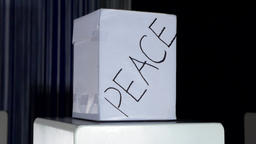 Peace Labeled Box Footage