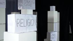 Socio-Political Sign Boxes Live Action