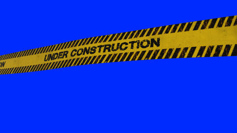 Under construction yellow tape Animation