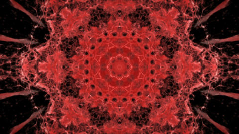 Kaleidoscopic red animated background loop CG動画