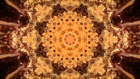 Kaleidoscopic orange animated background loop Animation
