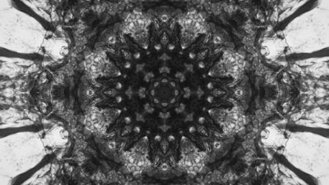 Kaleidoscopic black white animated background loop Animation