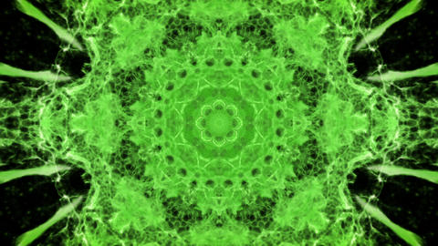 Kaleidoscopic green animated background loop Stock Video Footage