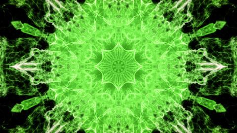 Kaleidoscopic green animated background loop Animation