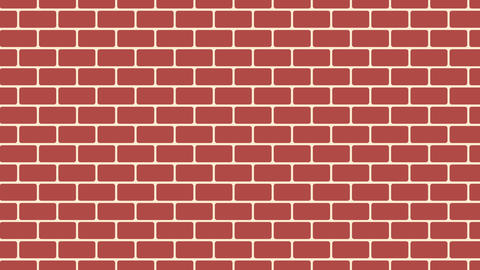Brown brick wall background, cartoon brick wall for your design, 3d rendering Live Action