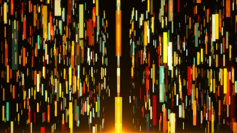 Abstract vertical colored stripes are in space - abstraction of data Live Action