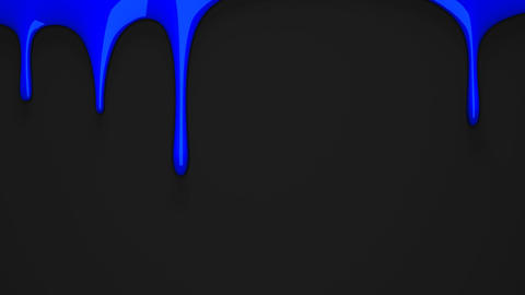 Blue liquid on black background Animation