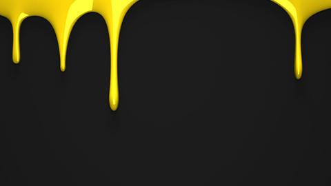 Yellow liquid on black background CG動画