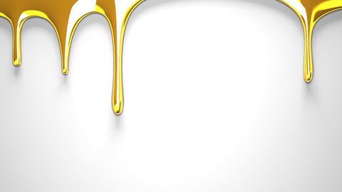 Gold liquid on white background CG動画