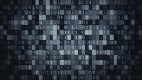 Blue data blocks and binary digits background loop Animation