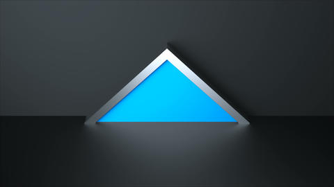 3d render with triangle shape, surface with reflection,... Stock Video Footage