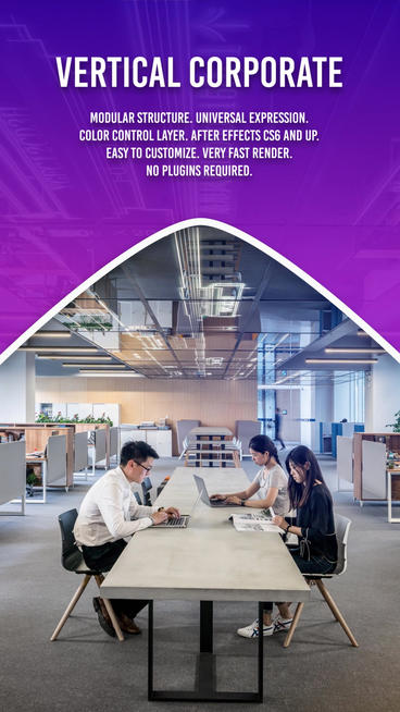 Vertical Corporate Slideshow After Effects Template