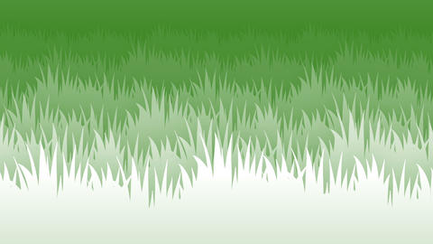 2d grass flat style parallax animated background loop v2 Animation