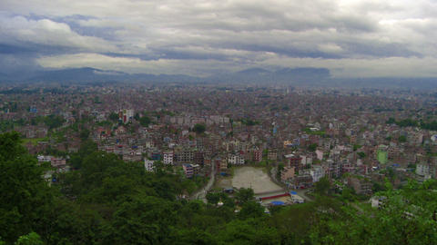 Panorama of cityscape in Nepal Footage