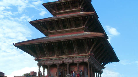 Bhaktapur Square traffic, Nepal Footage