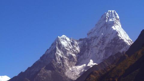 Ama Dablam Himalayan peak in Nepal Footage
