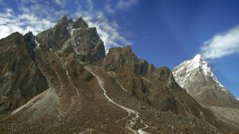 Rugged mountain peaks in Nepal Footage