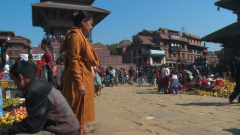 Busy marketplace in Nepal Footage