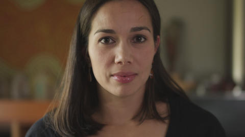 Close-up shot of a woman with hispanic features Footage