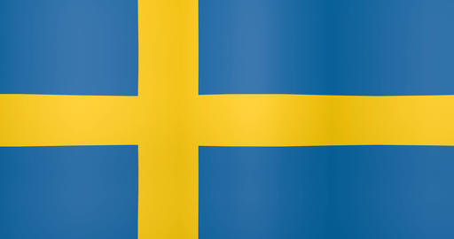 Waving Flag of Sweden Looping Background Live Action