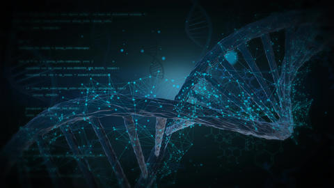 3d human dna structure animation Animation
