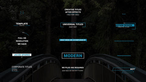 NEW Titles After Effects Template