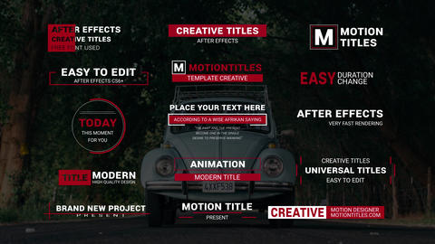 15 Titles V.2 After Effects Template
