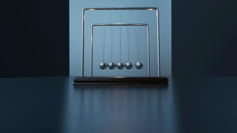Pemdulum Balls Swinging Newton's Cradle Moment Time Passing Success Business Animation