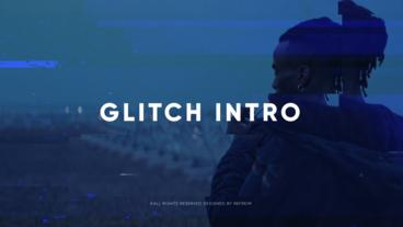 Glitch Intro After Effectsテンプレート