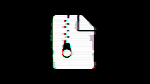 From the Glitch effect arises file archive symbol. Then the TV turns off. Alpha Animation