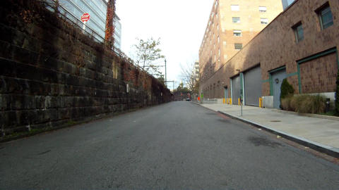A handheld shot of driving through the backstreets of Washington DC Footage