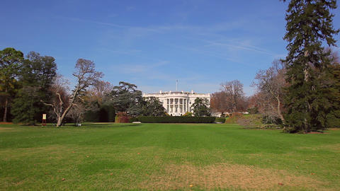 A static shot of the White House in Washington DC on a sunny day Footage