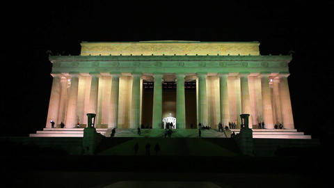Lincoln Memorial in Washington DC at night Footage