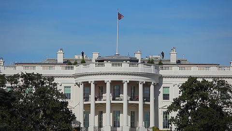 Static shot of the White House in Washington DC Footage