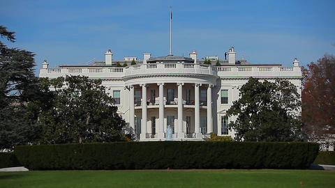 Static shot of the beautiful White House in Washington DC Footage