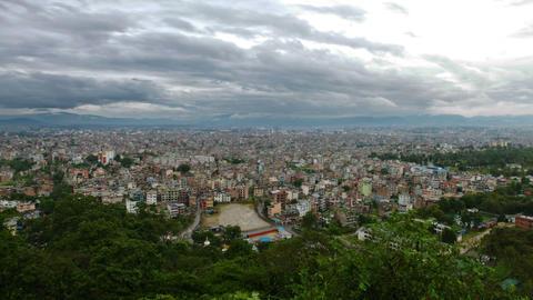 Time-lapse of the Kathmandu, Nepal cityscape Footage