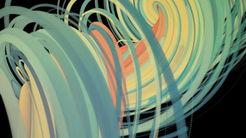 Rainbow flat dynamic lines spiral animation on a black... Stock Video Footage