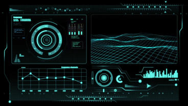 Hud infographic HI-TechL v1 Plantilla de After Effects