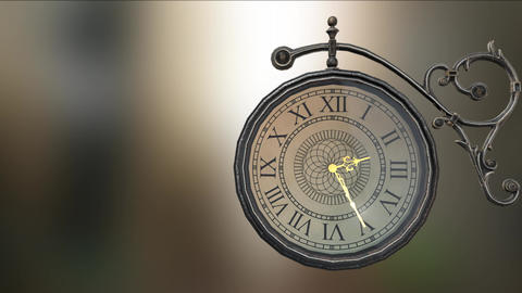 old clock 24 hour time lapse animation Animation