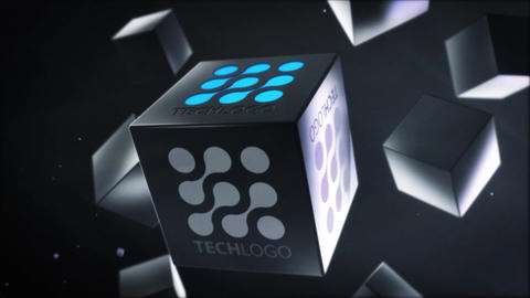 Business Cubes Logo Reveals After Effects Template