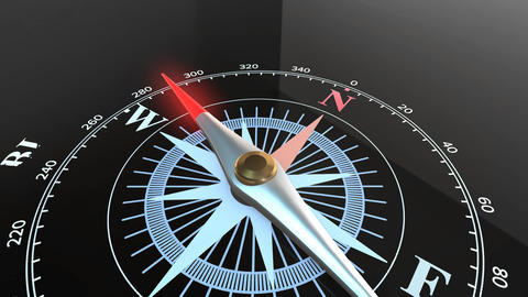 animation of Compass pointing to problem solution Animation