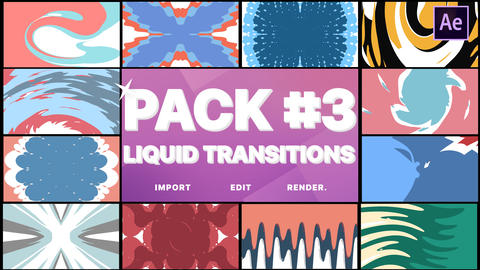 Liquid Transitions Pack 03 After Effects Template