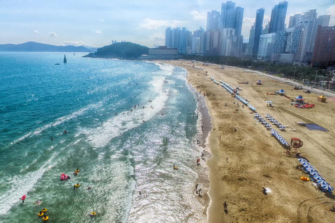Aerial View of Summer Haeundae Beach,, Busan, South Korea Asia Fotografía