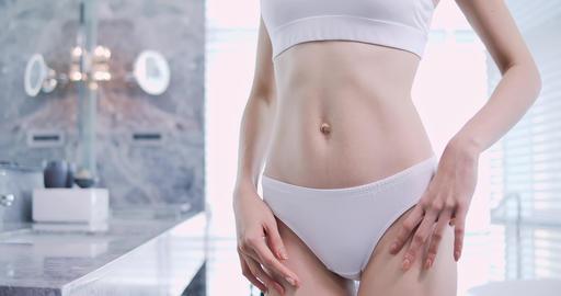 Sexy woman body with underwear Footage